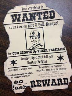 Larcie Bird: Western Blue & Gold Cub Scout Banquet
