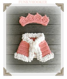 03mo Royal Crown and Cape Photo Prop Peach by FUNKYHOOKER on Etsy, $27.00