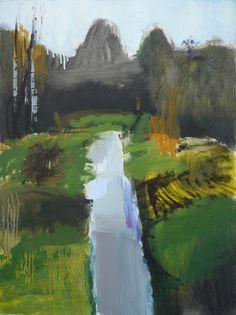 Olivier Rouault | Paysage | Olivier Rouault aimerait que sa peinture reste figurative, non par crainte ou mépris de l'abstraction pure, mais pour qu'elle reste une suggestion permanente afin que le spectateur puisse aller à rêver sa propre image, sa propre histoire et qu'ainsi il se l'approprie.