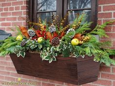 62 Cheap and Easy Fall Window Boxes Ideas - GODIYGO.COM - Cheap and easy fall window boxes ideas 17 - Window Boxes For Sale, Wood Window Boxes, Christmas Window Boxes, Winter Window Boxes, Window Box Flowers, Window Planter Boxes, Fall Containers, Succulent Containers, Container Flowers