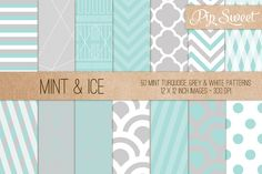 Check out Mint & Ice 50 Pattern Set by Pip Sweet on Creative Market http://crtv.mk/cNXx