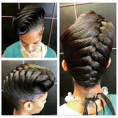 Beautiful Updo! Curls, Buns, Braids, Bobs, Knots, and Twists ❤ liked on Polyvore featuring beauty products, haircare and hair styling tools