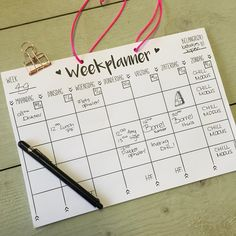 weekplanner Journal Quotes, Kids Learning Activities, Organize Your Life, Weekly Planner, Homemaking, Free Printables, Chill, Bullet Journal, Organising