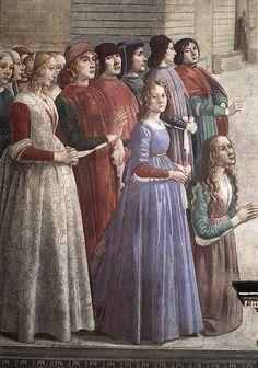 Доменико Гирландайо. Святой Франциск цикл. Воскресение Мальчика (фрагмент). 1483-85 Fresco. Санта Тринита, Флоренция