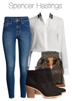 """""""Spencer Hastings - pll / pretty little liars"""" by shadyannon ❤ liked on Polyvore featuring Louis Vuitton, rag & bone and H&M"""