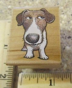Cute Duncan Dog MW Rubber Stamp All Night Media | eBay