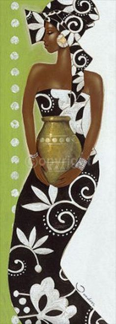 Black is beautiful African Beauty, African Women, African Fashion, African Quilts, Afrique Art, Art Tribal, African Paintings, African Theme, Art Africain