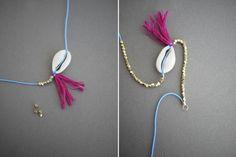 DIY Shell Bracelet From Honestly WTF
