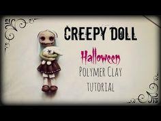 ▶ Creepy Doll ▪ Halloween ▪ Polymer Clay tutorial