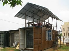 Shipping Container Homes: Container Solutions India - Bangalore - Single Container Home