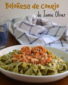 Cuuking!: Boloñesa de conejo (de Jamie Oliver) para el Desafío en la cocina.