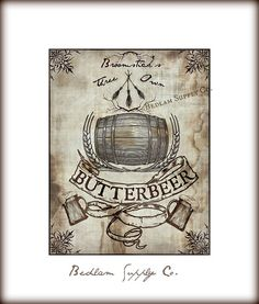 Butterbeer Print inspired by Harry Potter