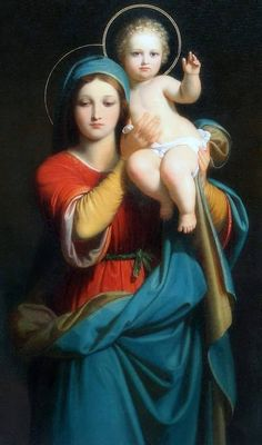 Madonna and child Blessed Mother Mary, Divine Mother, Blessed Virgin Mary, Religious Pictures, Religious Icons, Religious Art, Catholic Art, Catholic Saints, Jesus E Maria