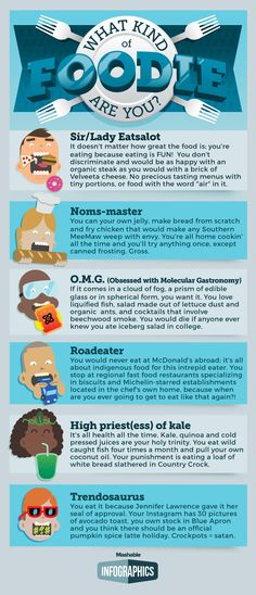 Food lovers -- What kind of foodie are you?