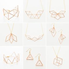 Follow this tutorial to make your own geometric jewelry.