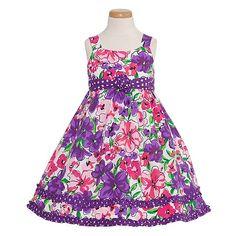 Purple Fuchsia Floral Print Spring Dress Toddler Little Girl 2T-14 « FourSeasonsGlutenFree.com