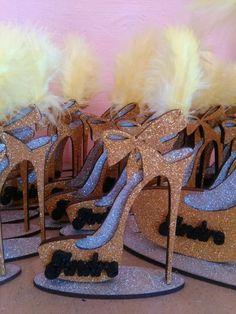 zapato brillante personalizado souvenirs 15 años 50 mujer