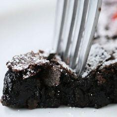 Swedish Sticky Chocolate Cake (Kladdkaka) Recipe by Tasty