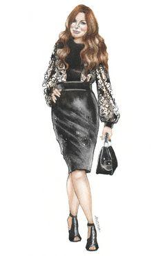 Jessica Paster (estilista) en Gucci Moda Ilustración por Anoma Paleebut