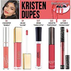 Best Ideas For Makeup Tutorials : Kylie Jenner lip kit dupes for Kristen Kylie Dupes, Kylie Lip Kit Dupe, Kylie Jenner Lip Kit, Kylie Jenner Lipstick Dupes, Kylie Jay, Kylie Lip Kit Swatches, Kendall Jenner, Double Dare, Lipsticks