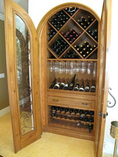 turn a pantry into a stunning wine bar
