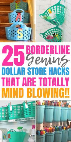 You must try these dollar store organization hacks for your bedroom, kitchen pan. - You must try these dollar store organization hacks for your bedroom, kitchen pantry, bathroom and m - Dollar Store Hacks, Astuces Dollar Store, Thrift Store Crafts, Dollar Stores, Dollar Dollar, Dollar Store Decorating, Thrift Stores, Organisation Hacks, Organizing Hacks
