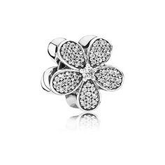 This fabulous, daisy-inspired sterling silver charm will be a standout piece in any collection due to its 102 brilliant-cut stones. #PANDORA #PANDORAcharm #Spring2015