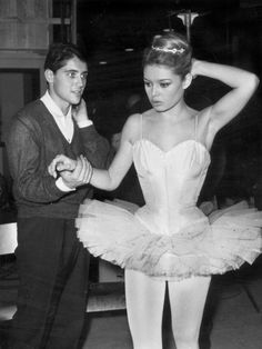Brigitte Bardot on set. 50's. #vintage #nostalgia  Save the memories of your era at http://www.saveeverystep.com