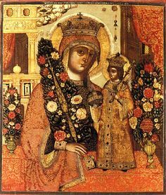 Mary the Unfading Blossom, Orthodox Christian Icon / Икона Божией Матери ''Неувядаемый Цвет''
