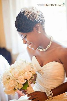 Bride in her natural hair