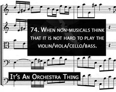 It's an orchestra thing