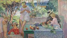 Le goûter sur la terrasse à Sainte-Maxime, 1914. Henri Lebasque (1865 - 1937)