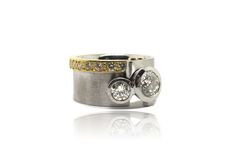 Hand made diamond ring- architect ring- contemporary- made at Francis Jewellers, Victoria BC