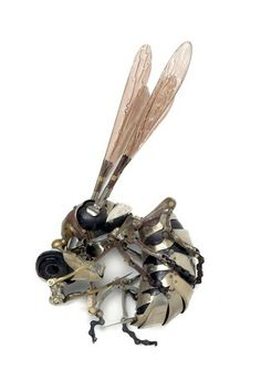 Steampunk Wasp, complete with vicious sting, by Edouard Martinet #steampunk