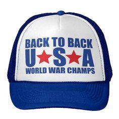 Back to Back USA World War Champs Hat