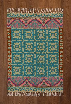 Tapis turquoise tapis rose tapis 4 x 6 carpette 5 x 7 par Carpetism