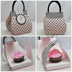 Caja bolsa cupcakes
