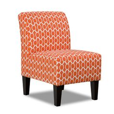 FREE SHIPPING! Shop Wayfair for Simmons Upholstery Side Chair in Orange - Great Deals on all Furniture products with the best selection to choose from!