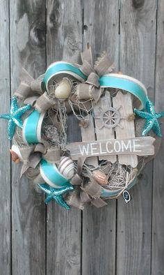 Summer Island Beach Wreath by Bonnieharmsdesigns on Etsy, $165.00