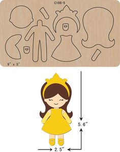 New Princess Wooden Die Cutting Dies Scrapbooking feltThe thickness is and is compatible with most leading DIY felt crafts projects ideas you need to know. Easy Felt Crafts, Felt Diy, Felt Doll Patterns, Applique Patterns, Fabric Dolls, Paper Dolls, Felt Templates, Applique Templates, Card Templates