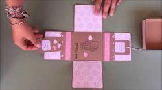 Explosion Box Scrapbooking - Caja explosiva para comunión