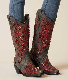 Corral Rhinestone Cowboy Boot - Women's Shoes in LD Grey | Buckle