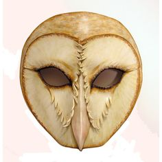 Barn Owl Leather Mask by teonova.deviantart.com on @deviantART