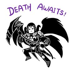 Smite - Death Awaits (Chibi) by Zennore