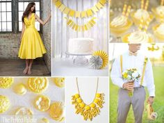 {Lemon Zest}: Shades of Yellow, Gray   White