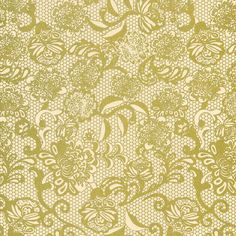 Spanish Lace Print Lokta Paper - Gold on Cream