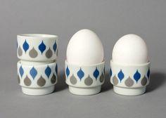 vintage egg cups lyngby mid century danish danild by northvintage, Vintage Egg Cups, Danish, Butter, Mid Century, Eggs, Ceramics, Retro, Unique Jewelry, Handmade Gifts