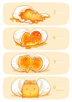 Meowing boiled eggs ~ Tabeneko ( •̀ω•́ )b ~ by Meo ~ her cats: http://meo-watt.wix.com/tabeneko#!artist/cr58