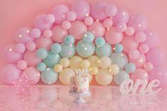 Half Birthday Baby, Birthday Wall, 1st Birthday Pictures, Unicorn Birthday Parties, Girl Birthday, Cardboard Christmas Tree, Smash Cake Girl, Birthday Balloon Decorations, First Birthdays