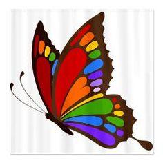 Rainbow Butterfly Shower Curtain > Rainbow Butterfly > Glamour Girls $46